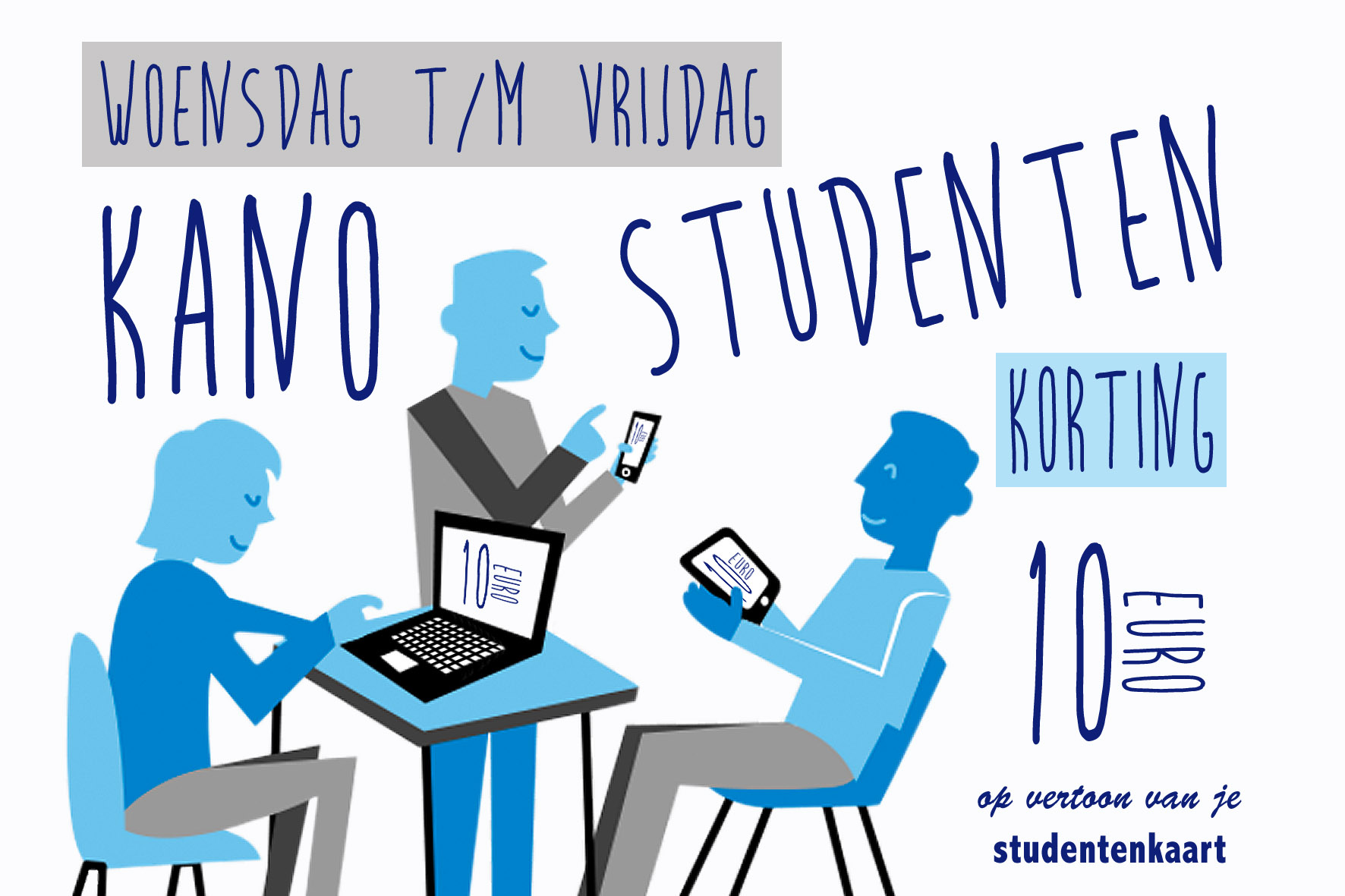studenten korting 10 euro